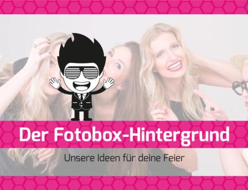 Der Fotobox Hintergrund